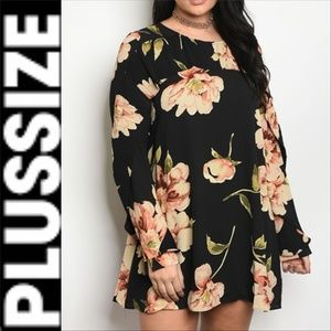 Dress CURVE PLUS SIZE CURVY FLORAL PRINT dress